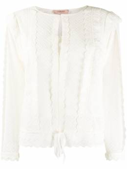 Twin-Set frill trimmed sheer blouse 201TP2492