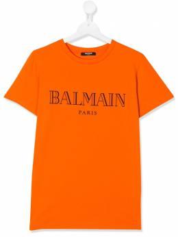Balmain Kids футболка с логотипом 6M8721MX030401