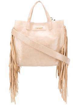 Twin-Set fringe-trimmed tote bag 201TO8141