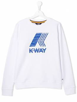K Way Kids TEEN graphic logo-print sweatshirt K00BCS0
