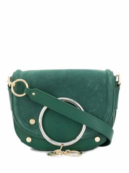 See By Chloe Mara ring-embellished crossbody bag CHS19WSA295663H1