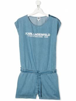 Karl Lagerfeld Kids logo print playsuit Z14118Z04