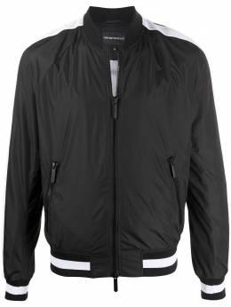 Emporio Armani куртка-бомбер с контрастными сетчатыми вставками 3H1BC41NSFZ