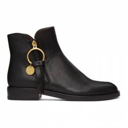 See By Chloe Black Zip Ankle Boots SB33110A 10001