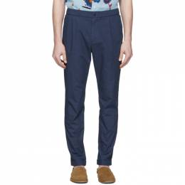 Ps by Paul Smith Navy Elasticized Waist Trousers M2R-182T-B20312
