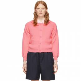Comme Des Garcons Girl Pink Lochaven Of Scotland Edition Ruffle Neck Cardigan NE-N003-051