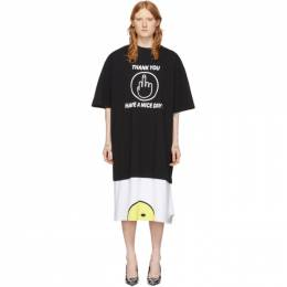 Vetements Black and White Have A Nice Day T-Shirt Dress SS20TR216