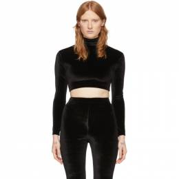 Vetements Black Evening Cropped Turtleneck SS20TR189