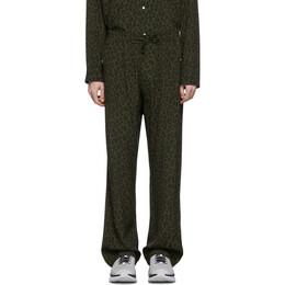 Needles Green Leopard Trousers GL188