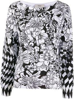 Pringle Of Scotland джемпер с длинными рукавами и цветочным узором WTH027