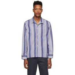 Noah Nyc Navy and White Pajama Shirt S7SS20