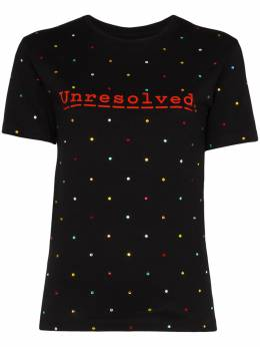 Paco Rabanne футболка с кристаллами из коллаборации с Peter Saville 20EJTE016CO0357