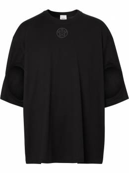 Burberry футболка с вырезами 4563789