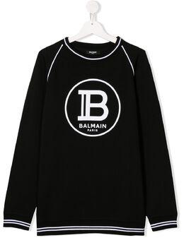 Balmain Kids толстовка с логотипом 6M4540MX270