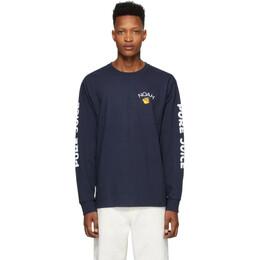 Noah Nyc Navy Pure Juice Long Sleeve T-Shirt T14SS20