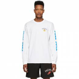 Noah Nyc White Pure Juice Long Sleeve T-Shirt T14SS20