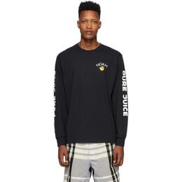 Noah Nyc Black Pure Juice Long Sleeve T-Shirt T14SS20