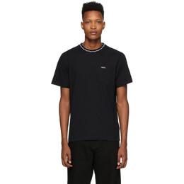 Noah Nyc Black Jacquard Collar T-Shirt KN20SS20