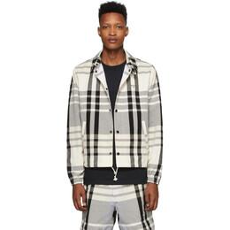 Noah Nyc Black and White Madras Jacket J1SS20
