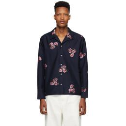 Noah Nyc Navy Floral Shirt S10SS20