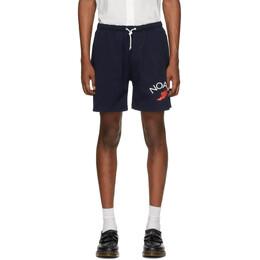 Noah Nyc Navy Jersey Shorts SH12SS20