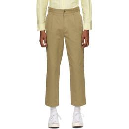 Noah Nyc Khaki Single-Pleat Chino Trousers P1SS20