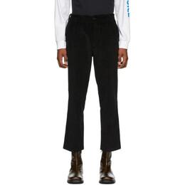 Noah Nyc Black Corduroy Adjustable Work Trousers P4SS20