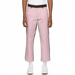 Noah Nyc Pink and Brown Single-Pleat Chino Trousers P1SS20