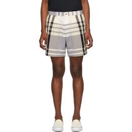 Noah Nyc Black and White Check Madras Shorts SH1SS20