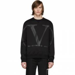Valentino Black Large VLogo Sweatshirt TV3MF05H5F7