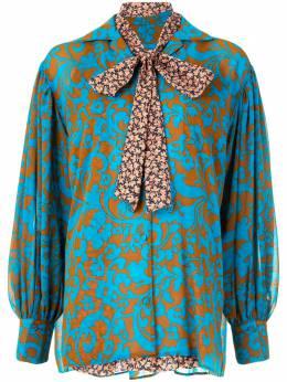 Maison Mihara Yasuhiro блузка с длинными рукавами и принтом B04SH171
