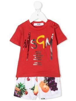 MSGM Kids комплект из футболки и шорт с логотипом 023944