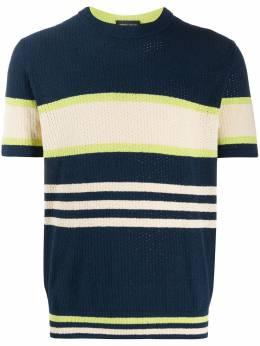 Roberto Collina полосатая футболка в стиле колор-блок RC37021