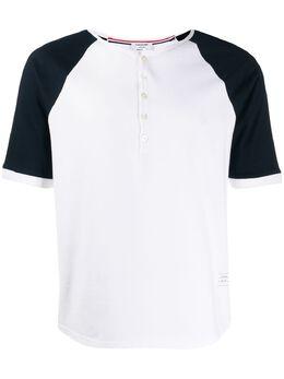 Thom Browne футболка с контрастными рукавами MJS111A00042