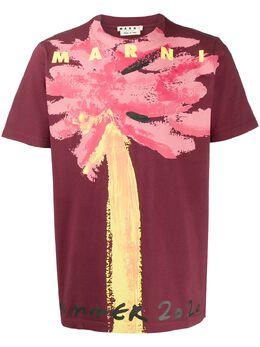 Marni футболка с абстрактным принтом HUMU0158P0S22763