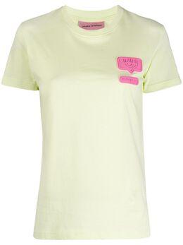 Chiara Ferragni футболка с круглым вырезом и нашивкой-логотипом CFT095