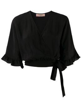 Twin-Set блузка с оборками и запахом 201TT2345