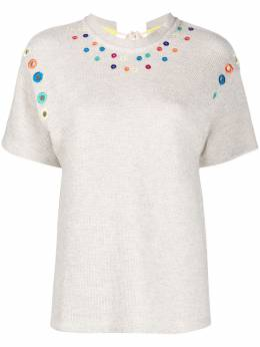 Mira Mikati футболка с вышивкой и завязками TEE018BSS20