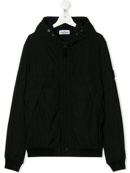 Stone Island Junior куртка на молнии с капюшоном MO721641031