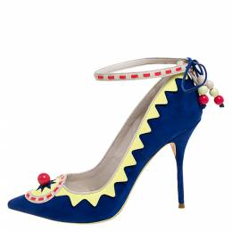 Sophia Webster Multicolor Suede and Leather Embellsihed Remmie Pointed Toe Pumps Size 39