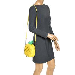 Kate Spade Yellow Pineapple Leather Crossbody Bag 275888