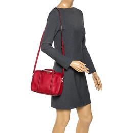 Kate Spade Red Leather Boston Bag 275671