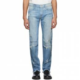 424 Blue 4 Pocket Distressed Jeans 424C-PSS20-0005