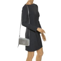 Tory Burch Silver Leather Crossbody Bag 275597