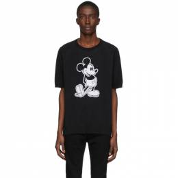 Takahiromiyashita The Soloist Black Disney Edition Mickey Knit T-Shirt sk.0011bSS20