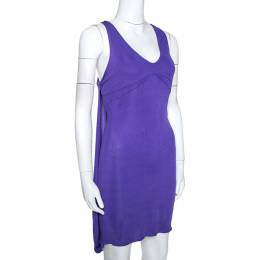 Just Cavalli Purple Stretch Jersey Sleeveless Mini Dress M 275370