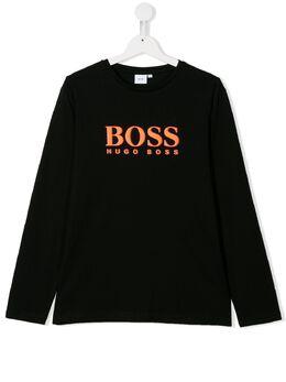 Boss Kids топ из джерси с логотипом J25E45M44