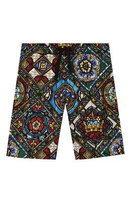 Хлопковые шорты Dolce&Gabbana L42Q52/HS5GL/2-6