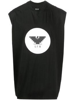 Rick Owens топ без рукавов UFW с принтом RR20S7100RNEP10