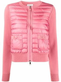 Moncler куртка с дутыми вставками спереди F10939B50100A9001